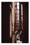 Red Alley Photographic Print by Evan Morris Cohen