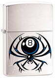 8 - Ball Spider - Brush Chrome Zippo Lighter Lighter