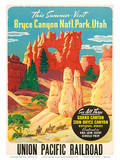Bryce Canyon, Union Pacific Railroad c.1935 Prints