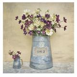 Plum Daisies Prints by Cristin Atria