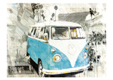 Hippie Van Poster by Bresso Sola