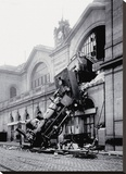 Train Accident at the Gare Montparnasse, Paris, 1895 Stretched Canvas Print