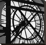 Paris Clock II Stretched Canvas Print by Alison Jerry