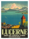 Lucerne Lovely Lake Poster by Otto Landolt