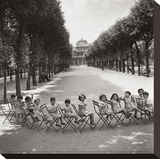 Children in the Palais-Royal Garden, c.1950 Stretched Canvas Print by Robert Doisneau