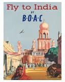 India by BOAC c.1955 Giclee Print