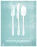 People Who Love to Eat Are Always The Best People Siebdruck von  Hero Design