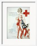 I Summon You to Comradeship in the Red Cross, Woodrow Wilson Posters tekijänä Harrison Fisher