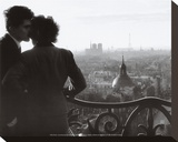 Les Amoureux de la Bastille, c.1957 Stretched Canvas Print by Willy Ronis