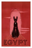 Egypt Black Cat c.1947 Print