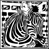 Learn to a Maze Z is for Zebra Mounted Print by Yonatan Frimer