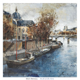 Ile de la Cité, Paris Prints by Marti Bofarull