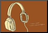 Lunastrella Headphones Mounted Print by John Golden