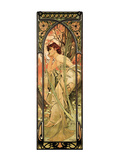 Evening Premium Giclee Print by Alphonse Mucha