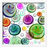 Floating Smiley Faces Prints