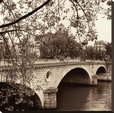 Pont Louis-Philippe, Paris Stretched Canvas Print by Alan Blaustein