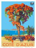 Cote D'Azur Statue PLM c.1935 Prints by Julien Lacaze