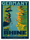 The Rhine, Germany c.1950s Poster by Richard Friese