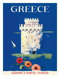 Greece Tower of Solonica c.1952 Giclée-tryk
