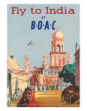 India by BOAC c.1955 Giclee Print