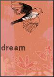 Dream Bird Mounted Print