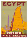 Egypt, Premier Winter Rendez-Vous c.1930s Prints by Roger Bréval