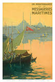 Istambul Messageries Maritimes c.1925 Art by Gilbert Galland