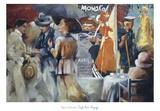 Café Bon Voyage Print by Maria Zielinska