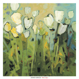 White Tulips I Posters by Jennifer Harwood