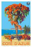 Cote D'Azur Statue PLM c.1935 Posters by Julien Lacaze