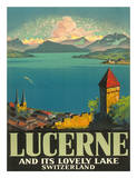 Lucerne Lovely Lake Giclee Print by Otto Landolt