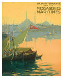 Istambul Messageries Maritimes c.1925 Giclée-tryk af Gilbert Galland