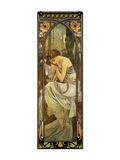 Nacht Giclée-Premiumdruck von Alphonse Mucha