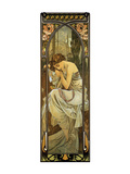 Night Premium Giclee Print by Alphonse Mucha