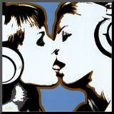 The Kiss Mounted Print by Steez 