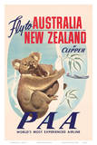 Fly to Australia and New Zealand c.1950s Posters