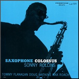 Sonny Rollins - Saxophone Colossus Mounted Print