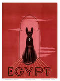 Egypt Black Cat c.1947 Poster by M. Azmy