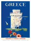 Greece Tower of Solonica c.1952 Poster