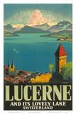 Lucerne Lovely Lake Print by Otto Landolt