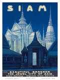 Siam c.1920s Poster by R. Wening