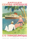 Antilles Centre Amerique c.1970s Poster by Sandy Hook