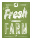 Fresh from the Farm Siebdruck von  Hero Design