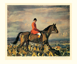 Major T. Bouch and the Belvoir Hounds Posters par Sir Alfred Munnings