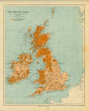 Map of the British Isles Poster di  The Vintage Collection