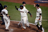 San Francisco, CA - Oct. 22: Giants v Cardinals - Sandoval, Scutaro, Posey, Belt and Pence Photographic Print by Thearon W. Henderson