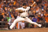 San Francisco, CA - Oct. 22: San Francisco Giants v St. Louis Cardinals - Javier Lopez Photographic Print by Christian Petersen