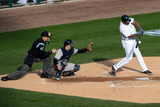 Detroit, MI - Oct. 18: Detroit Tigers v New York Yankees - Delmon Young Photographic Print by Jason Miller