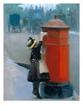Posting A Letter Prints by Albert Ludovici
