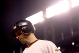 San Francisco, CA - Oct. 22: San Francisco Giants v St. Louis Cardinals - Marco Scutaro Photographic Print by Ezra Shaw